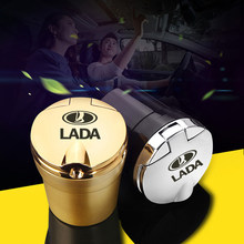 Led Lights Car Ashtray With Creative Cover Personality Case Multi-function Interior Car Accessories For lada niva 4x4 1/32(China)