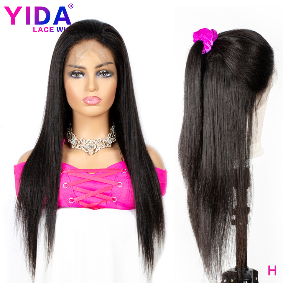 Brazilian Lace Front Human Hair Wigs Remy Straight Hair Lace Wigs For Black Women 150% Density Pre-Plucked  8-22 Inch Yida Wig
