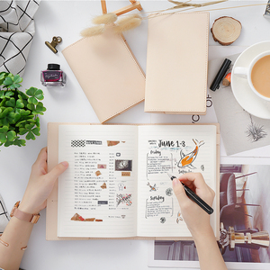 Image 4 - 100% Genuine Leather Notebook Planner Book Cover  A6 A5 B6 Slim For MD Diary Original Journal Drawing Sketchbook