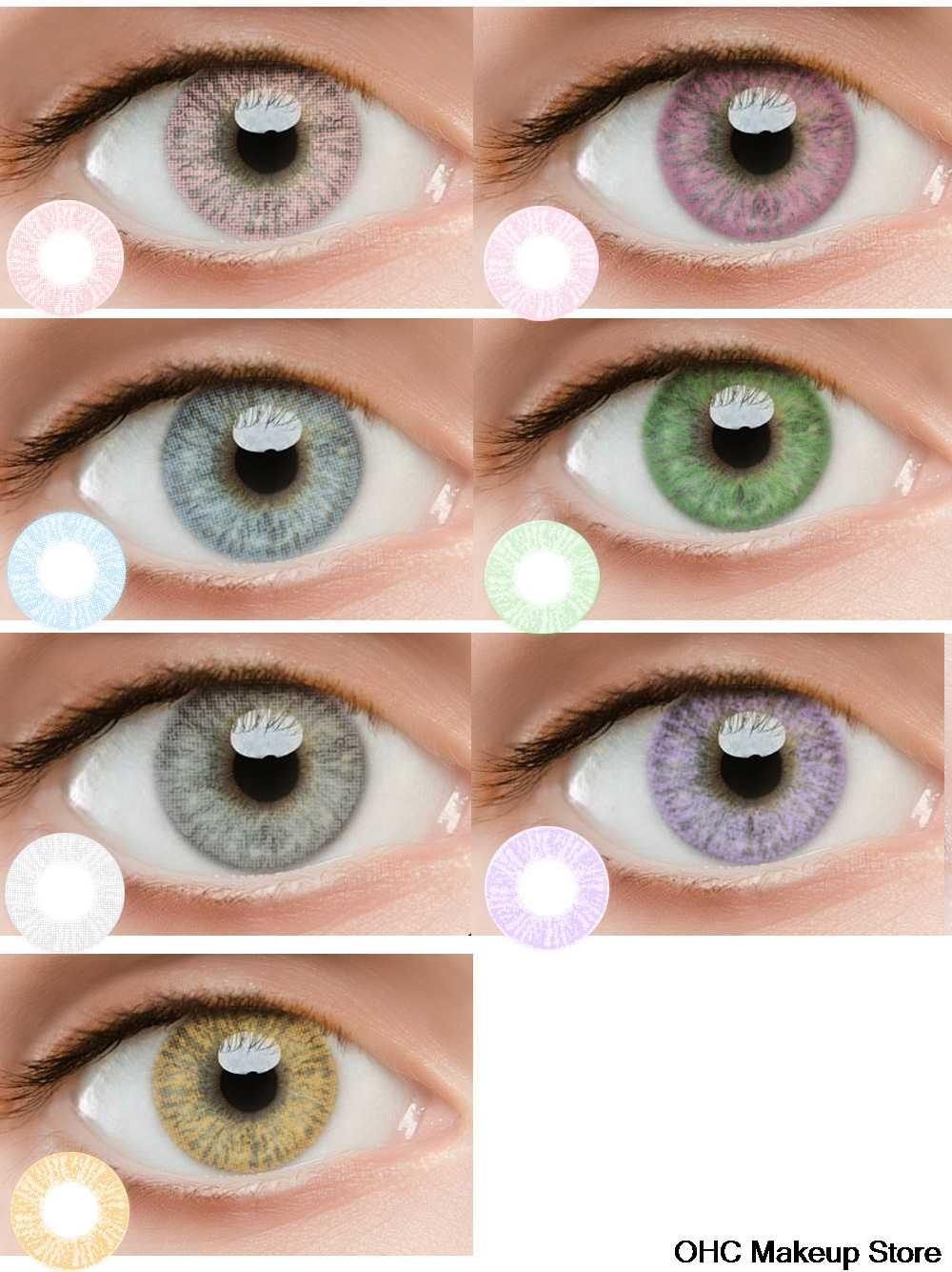 2 шт./1 пара в наборе разноцветные мягкие косметические светлые очки Make Up инструмент «большие глаза», Цветной вечерние личность Красота приятная к телу ткань обеспечит комфорт для макияжа