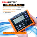 Цифровой измеритель сопротивления PM5910  RCD тестер контура  переключатель  тестер  ток/время  RL-метр с интерфейсом USB