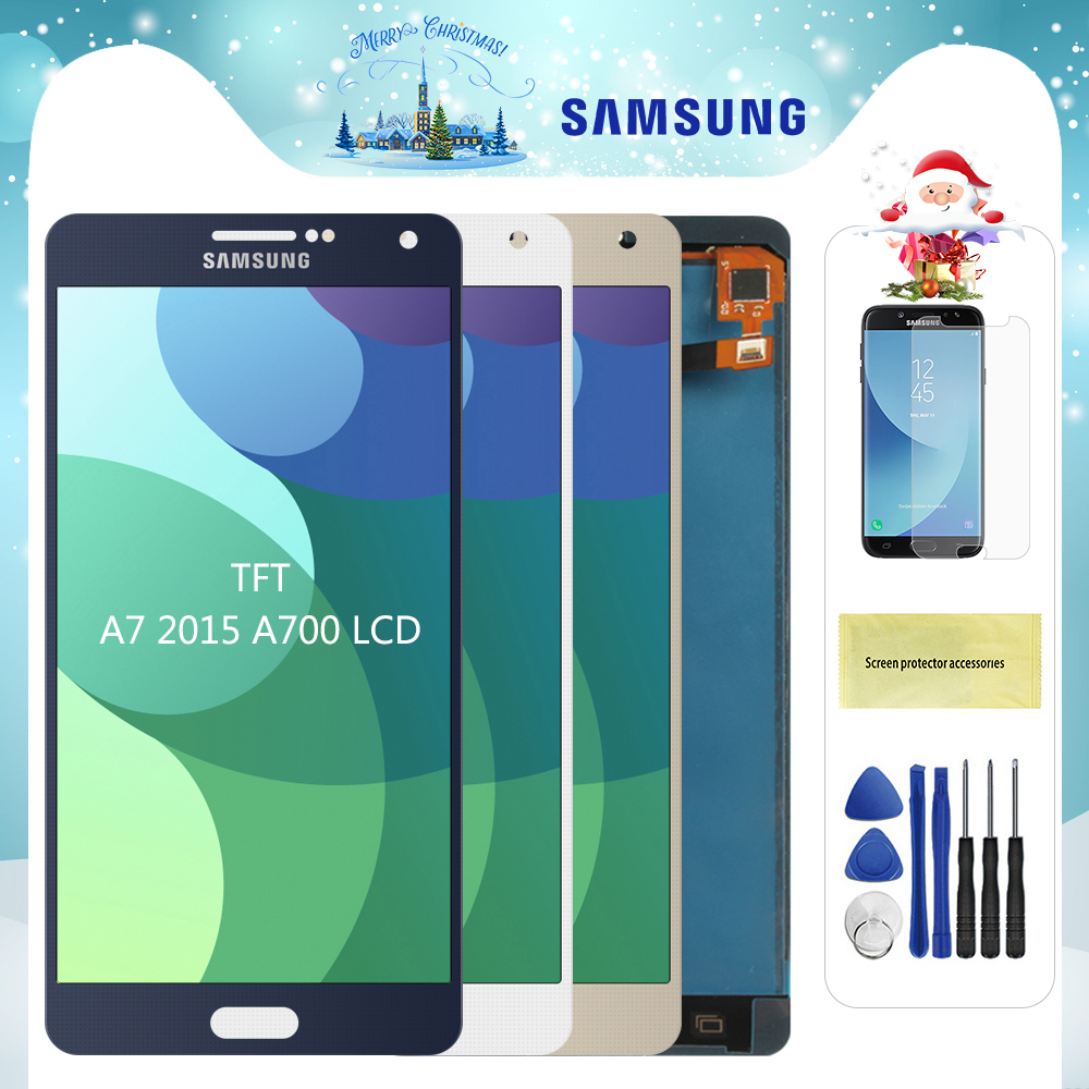 For <font><b>Samsung</b></font> Galaxy <font><b>A7</b></font> 2015 A700 <font><b>LCD</b></font> A700H A700F A700S A700K Display Touch Screen Digitizer Replacement For <font><b>A7</b></font> A700 Screen <font><b>LCD</b></font> image