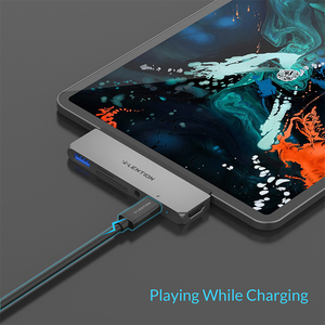 Image 5 - USB C многопортовый концентратор для нового iPad Pro 11/12.9, с 4K HDMI, USB 3,0, SD/Micro SD кардридерами, питание и 3,5 мм Aux