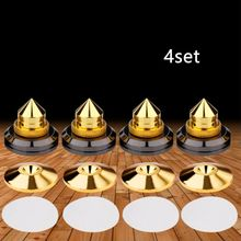4 ערכות בסיס כרית רמקול ספייק קונוס אביזרי עמיד הלם סאב CD Traceless