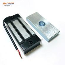 DC12V /24V electromagnetic lock magnetic lock 60Kg/100Lbs holding force for showcase cabinet door frameless glass door