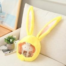 Funny Plush Bunny Ears Hood Hat Rabbit Eastern Cosplay Costume Headwear Props