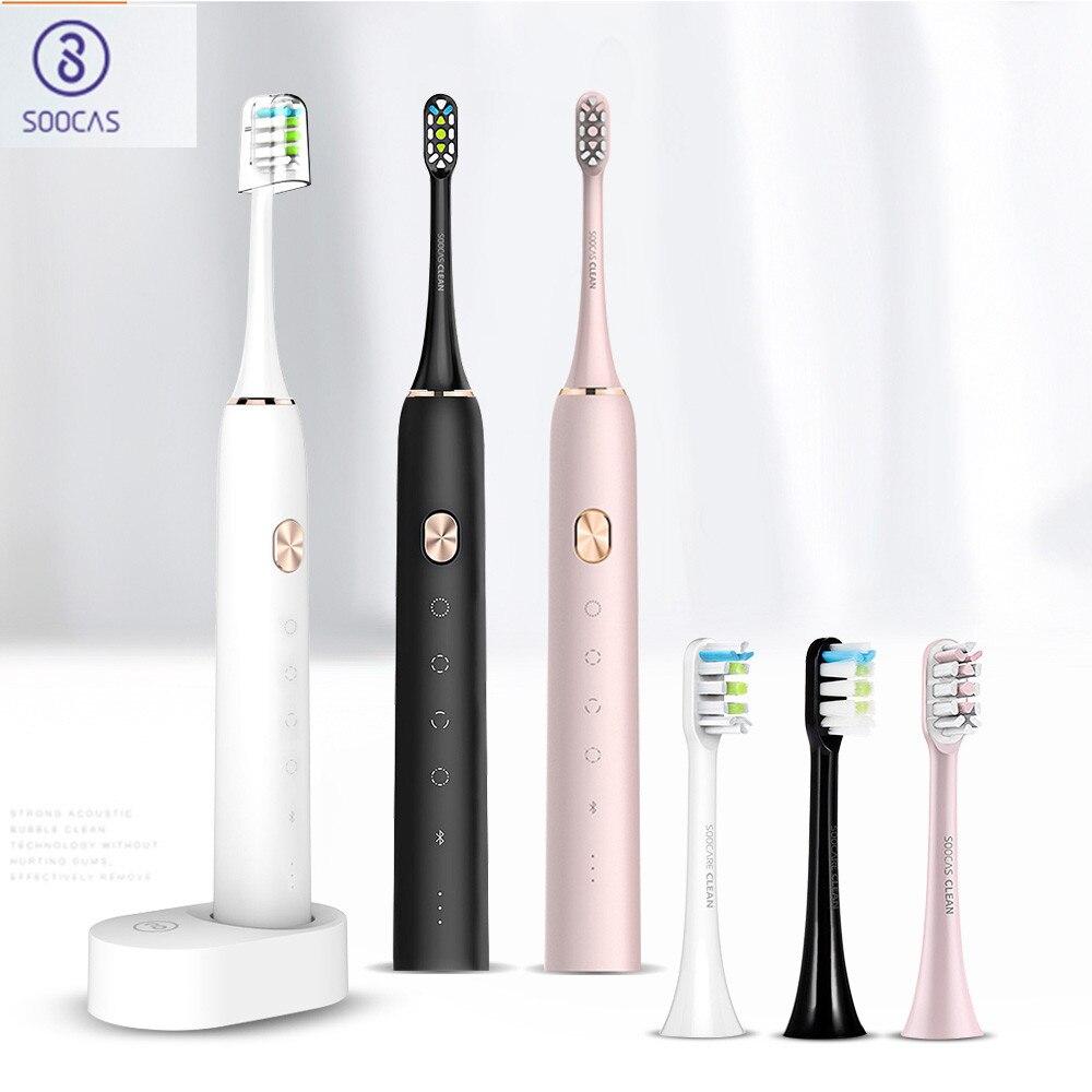 Soocas X3 brosse à dents électrique étanche USB Rechargeable mis à niveau brosse à dents électrique sonique brosse à dents Ultra sonique