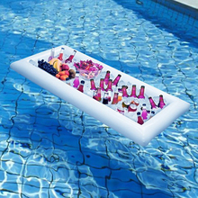 Swimming Pool Float Beer Table Drinking Cooler Table Bar Tray Beach Inflatable Air Mattress Water Food Drink Holder Pool Floater