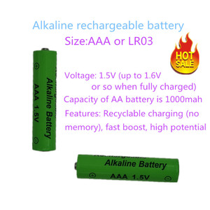 Image 3 - Yüksek enerji verimliliği ve düşük kendi kendine deşarj 1.5V LR03 AAA şarj edilebilir alkalin pil oyuncak kamera için shavermice