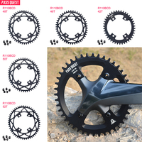 Bicycle Round Narrow Wide Chainring MTB Mountain bike bicycle 110BCD 42T/44T/46T/48T/50T/52T crankset Tooth plate Parts