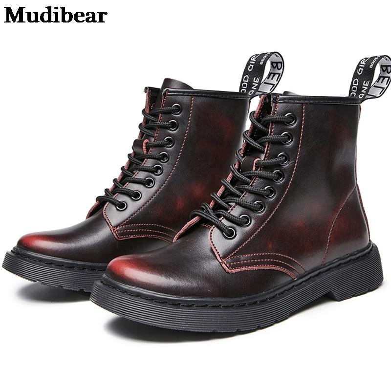 Купить женские ботинки из мягкой кожи mudibear белые мотоциклетные