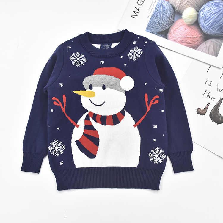 Grueso cálido suéteres de navidad niños niñas suéteres