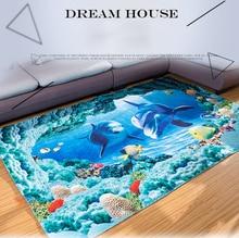3D Carpets Living room Modern Pringting Hallway Carpet Bedroom Tea Table Bathroom Kitchen Doormat Anti-slip Flannel Area Rug Mat