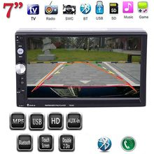 "HOT 2 DIN car stereo 7"" Car Video Player MP5 7023D Support FM/USB/Bluetooth/AUX Audioradio(China)"