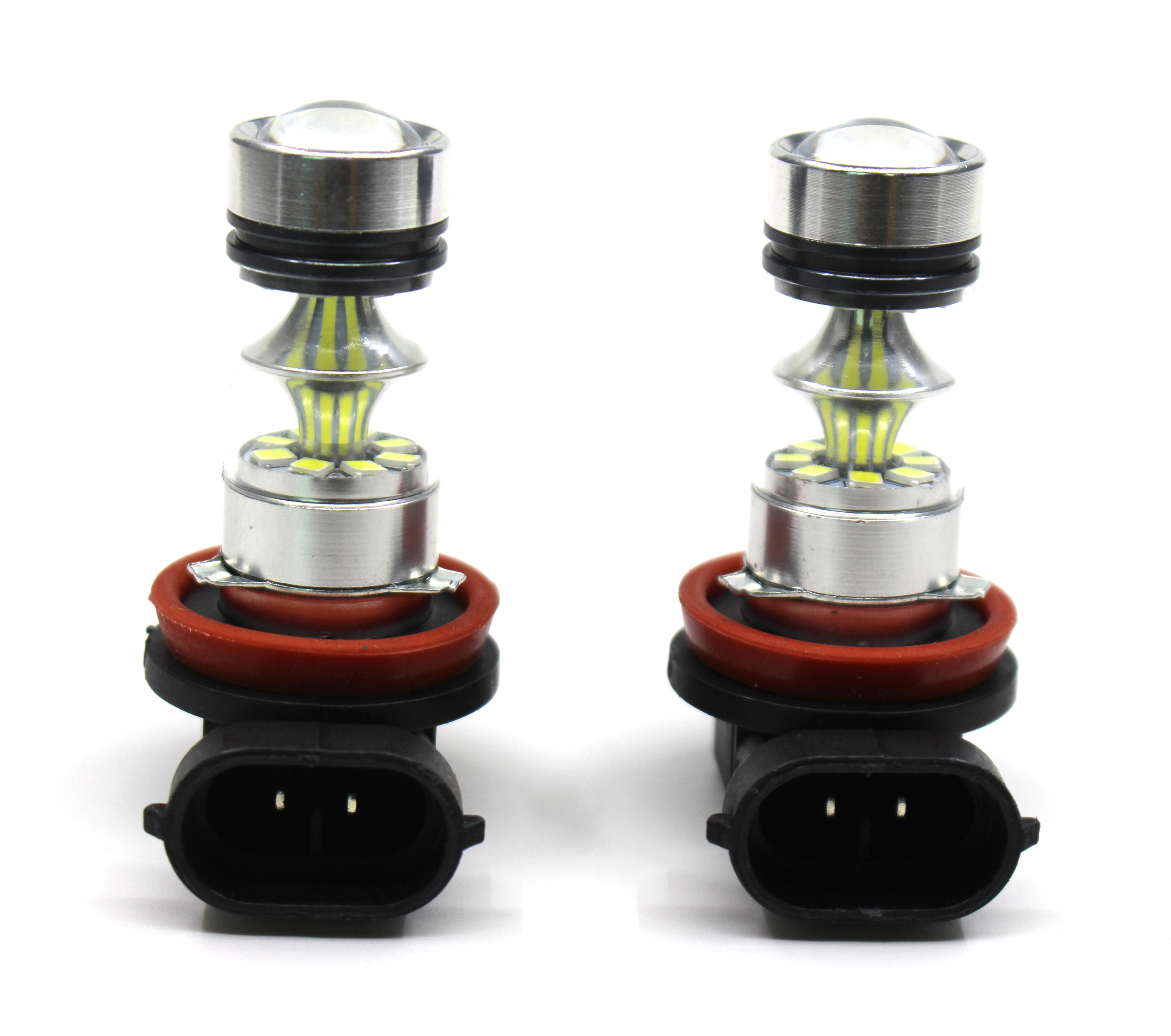 Headlights Led-Bulb 6500K H8 H11 Car 2X 100W 12V 20SMD H9