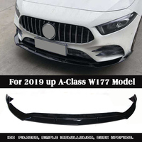 B Style PP Material Front lip Spoiler For Benz A Class A180 A200 A260 Sport W177 2019+