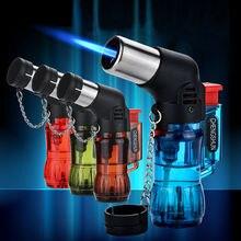 Cigar Butane Lighters Windproof Portable Gas Lighter Elbow S