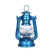 Vintage Pedestal queroseno linterna de aceite lámpara de mesa decoración estilo mediterráneo