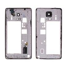 Для samsung Galaxy Note 4 N910 N910G N910F средняя часть корпуса Корпус рамка пластина рамка крышка Запасные детали часть