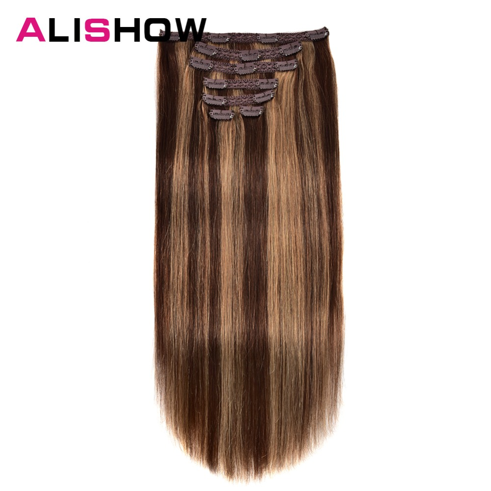 Alishow clip no cabelo humano fácil do
