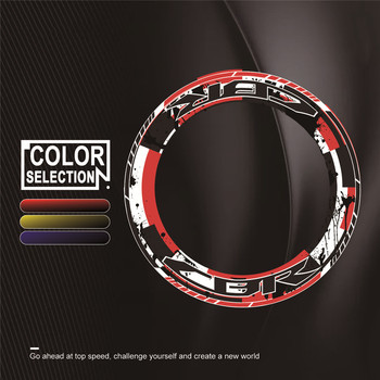 Motorcycle Stickers 4 X Thick Edge Outer Wheel Stickers Striped Wheel Reflective Stickers for Honda CBR All