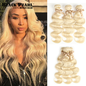 613 Honey Blonde Bundles Brazilian Hair Body Wave Bundles 100% Remy Human Hair Extensions 3/4 Bundles 10 to 26 Inches