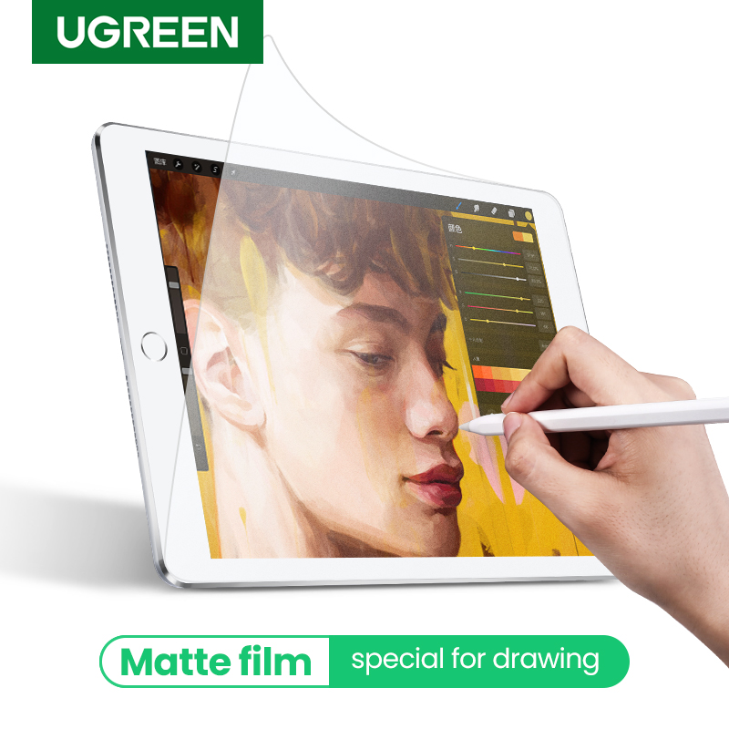 Ugreen Protective Glass Paperlike Matte Film For Apple IPad Pro 11 12.9 2020 10.5 9.7 IPad Mini 4 5 Paper Like Screen Protector