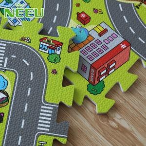 Image 2 - Alfombra de juegos para bebés, alfombra de juegos de espuma EVA, alfombra para niños, alfombras para desarrollar 30*30*1 alfombra de piso de baldosas de 9 piezas