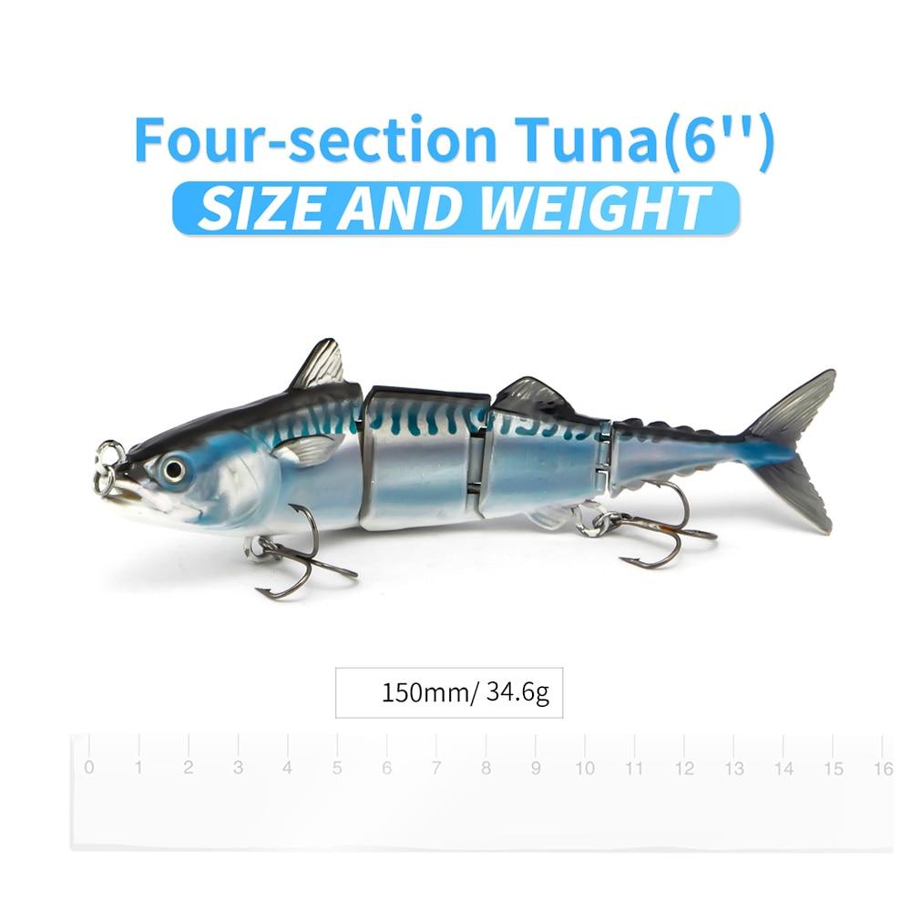 Leurre articulé de pêche en mer pour bar bonites thons
