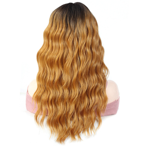 Image 5 - Lace Front Synthetic Hair Wigs Middle Part 99J Red Color X TRESS 20inch Long Soft Natural Wave Trendy Lace Wig For Black Women
