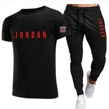 2021 summer fashion leisure brand male tracksuit set sports track suits sportwear male short sleeves t-shirt 2 piece sweatsuit