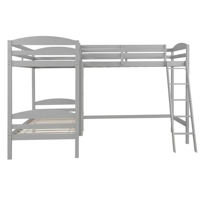Twin over Twin Bunk Beds with Slide Loft Bed 4
