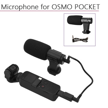 Portable 3.5mm Microphone for DJI Osmo Pocket/Pocket 2 Audio Adapter Data Cable Connector Handheld Gimbal Camera Accessories triple hot shoe mount adapter microphone extension bar for zhiyun smooth 4 dji osmo pocket gimbal accessories