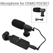 Portatile 3.5 millimetri Microfono per il DJI Osmo Tasca/Tasca 2 Audio Adapter Connettore del Cavo Dati Palmare Giunto Cardanico Della Macchina Fotografica Accessori
