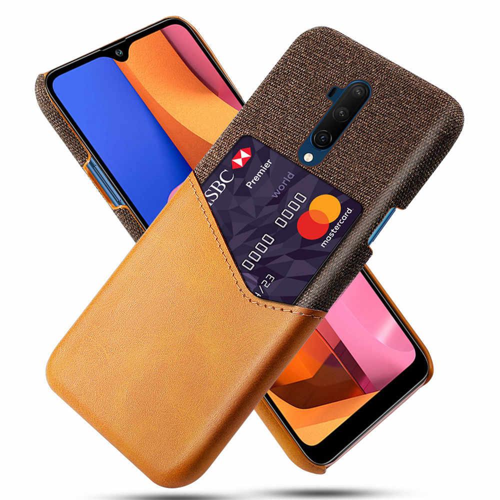 Kart yuvaları durumda OnePlus 7T Pro 7 6T 6 5T 5 1 + 6T kapak lüks cüzdan kılıf için OnePlus 7T 6T 5T 5 1 + 7T Pro 1 + 7 1 + 6 1 + 5 Funda