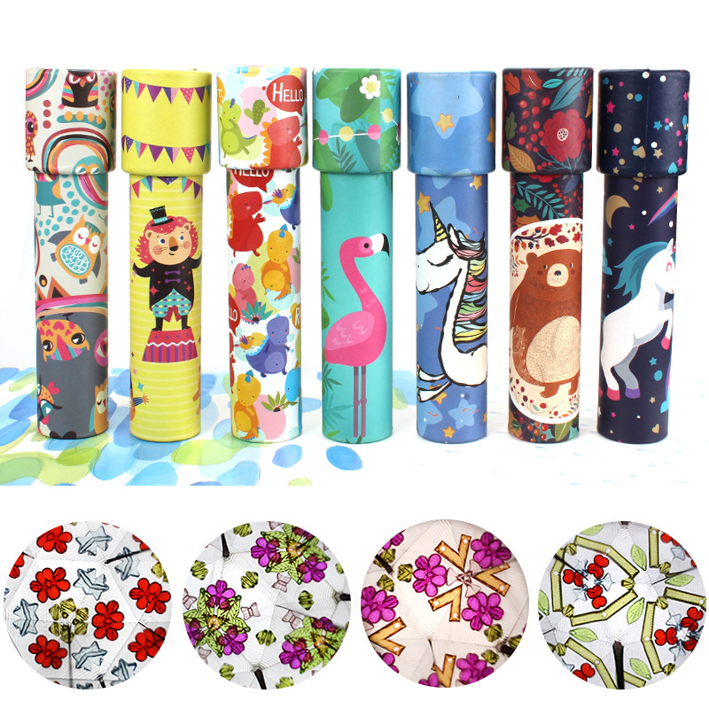 Montessori Rotating Kaleidoscope Imaginative Cartoon Prince Children Interactive Logical Magic Classic Educational Toys for Kids