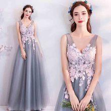 N Серый v-образным вырезом без рукавов Роскошные вечерние платья на заказ женские красные ковры Свадебные Вечернее формальное платье для леди большие размеры 5xl