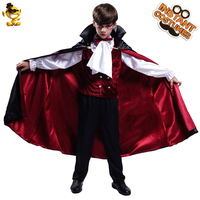Halloween Vampire Costume for Boy Cosplay Child Deluxe Vampire Prince Clothes XL Cape Outfits Halloween Kids Party Costumes