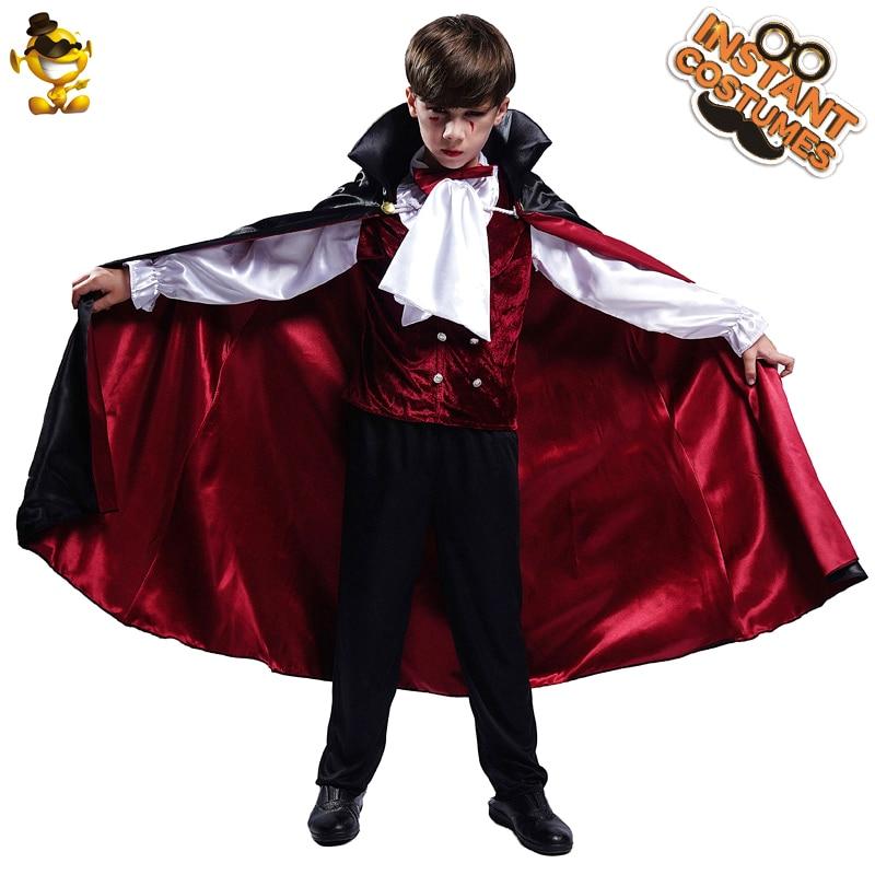 Детский костюм вампира на Хэллоуин; Роскошный костюм для костюмированной вечеринки; Детский костюм на день рождения для мальчиков; Подарок ...