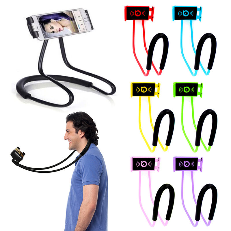 In Stock Hanging Neck Lazy Bracket Multifunction Phone Holder Flexible Bedside Table Stands 360 Degree Stand Phone Accessories