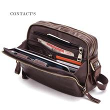 Handbags Crossbody-Bag Messenger-Bag Large-Capacity Vintage Crazy Man Male Men Bolsos