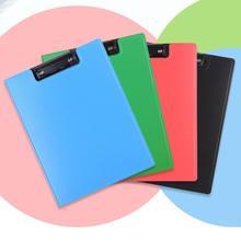 A4 Folder Plastic Board Clip Single Clip Hard Shell Board Clip Writing Board Data Book Storage Clip Pad