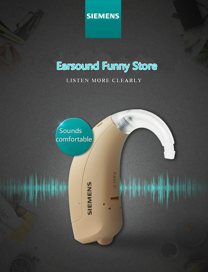 2019BEST!!Original SIEMENS Fast P 4 Channels Hearing Aid for The Elderly Hearing Loss Sound Amplifier Ear Care Tools Adjustabl