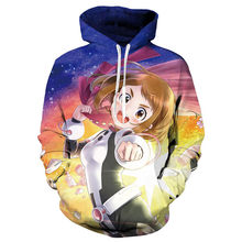 Anime Saya Boku No Hero Academia Ochaco Uraraka Cosplay Hoodie Lucu Sweatshirt Wanita Gilrs Hooded Hoodies Pesta Kostum(China)