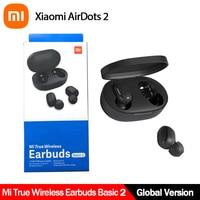 Xiaomi-auriculares Redmi Airdots 2 TWS, inalámbricos por Bluetooth 5,0, auténticos, básicos, 2, enlace automático, TWSEJ061LS