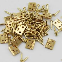 Hot Sale 20Pcs Mini Metal Hinges with Nails DIY Miniature Furniture Dollhouse Accessory Craft Accessories Easy to Use