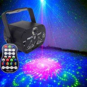 Image 2 - WAKYME Mini RGB Disco Licht DJ Lichter in Bühne Lichteffekte Sterne Whirlwind Laser Projektor Club Bar Party Licht 60 muster