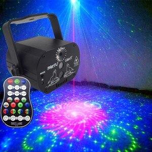 Image 2 - Wakyme ミニ rgb ディスコライト dj ライト舞台照明効果スター旋風レーザープロジェクタークラブバーパーティーライト 60 パターン