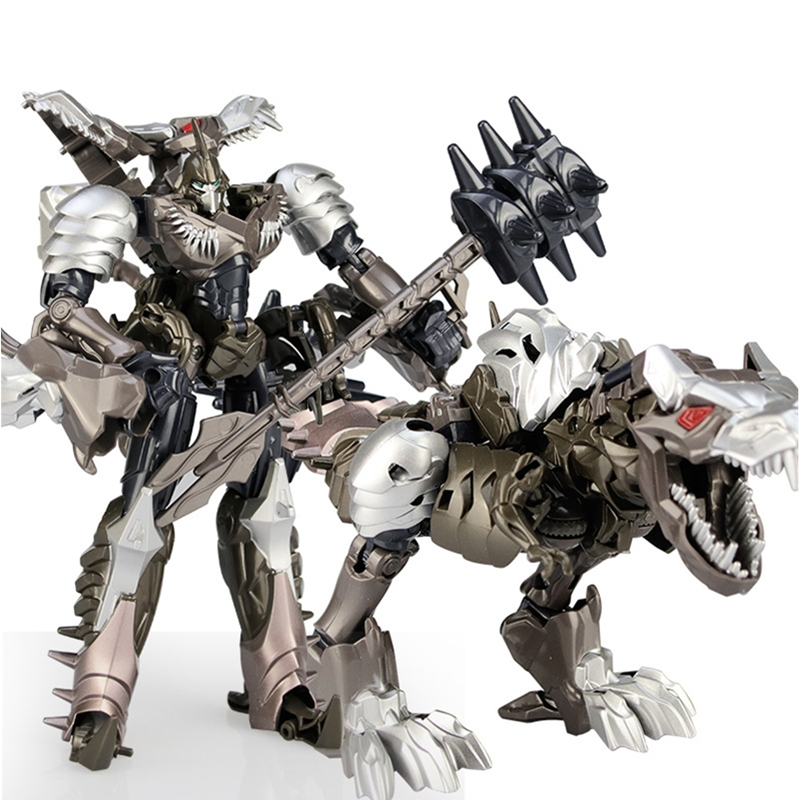 Retail Deformation <font><b>Toys</b></font> Dinobots Grimlock <font><b>Dinosaur</b></font> Transformation Car Robot Action Figure Gifts Kids Juguetes Brinquedos 19cm image