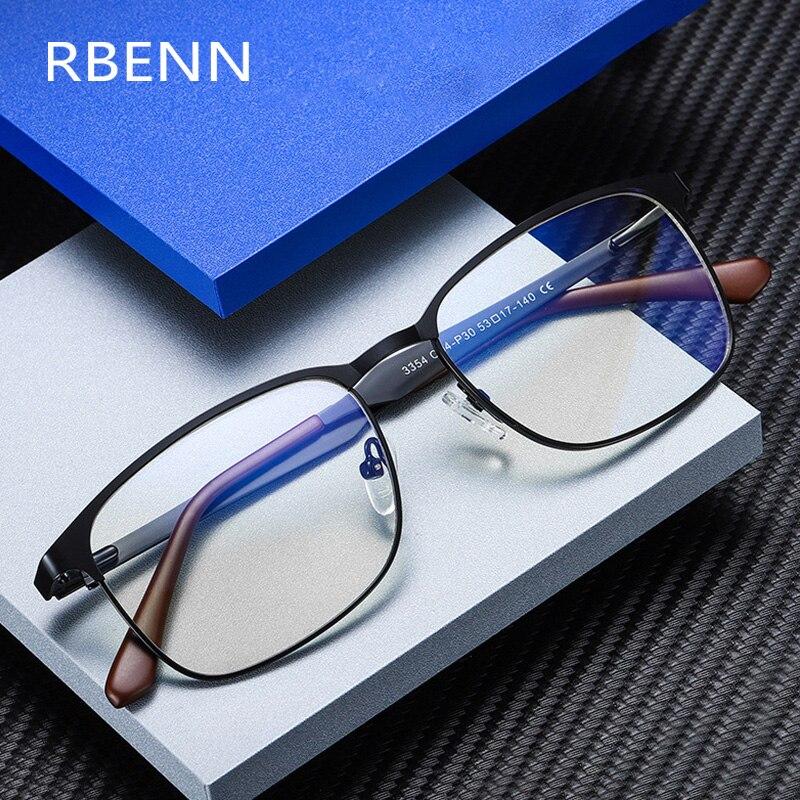 RBENN erkekler iş bilgisayar gözlük yüksek kalite mavi ışık engelleme gözlük erkekler için Anti mavi ışık oyun gözlükleri UV400